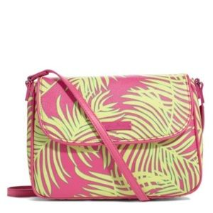 NWT Vera Bradley Palm Fronds Flap Crossbody Bag